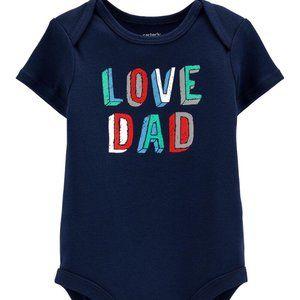 CARTER'S Boy's Love Dad Collectible Bodysuit | 9M